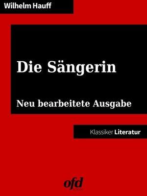 cover image of Die Sängerin