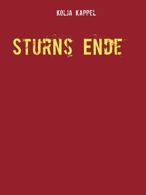cover image of Sturns Ende