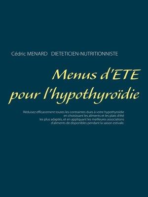 cover image of Menus d'été pour l'hypothyroïdie