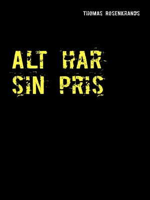 cover image of Alt har sin pris