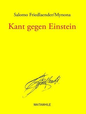 cover image of Kant gegen Einstein