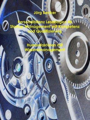 cover image of Personalbilanz Lesebogen 48 Startup-Management mit Kompetenz und Qualifizierung