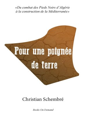 cover image of Pour une poignée de terre