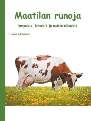 cover image of Maatilan runoja