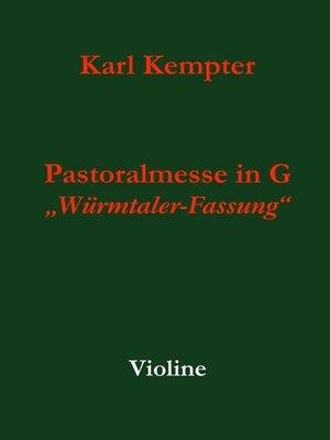 cover image of Kempter--Pastoralmesse in G. Violine