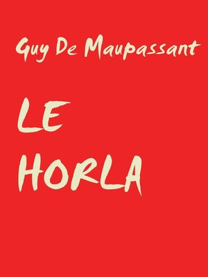 cover image of LE HORLA