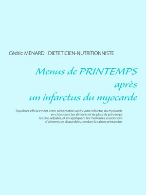 cover image of Menus de printemps après un infarctus du myocarde