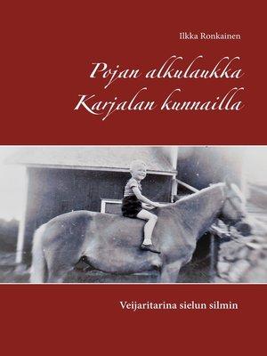 cover image of Pojan alkulaukka Karjalan kunnailla