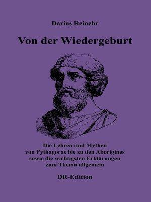 cover image of Von der Wiedergeburt