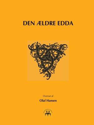 cover image of Den ældre Edda