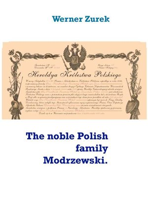 cover image of The noble Polish family Modrzewski.