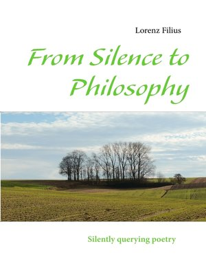 cover image of From Silence to Philosophy