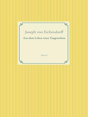 cover image of Aus dem Leben eines Taugenichtss
