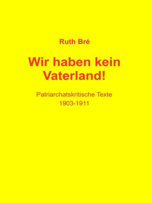 cover image of Wir haben kein Vaterland!