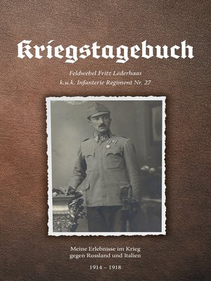 cover image of Kriegstagebuch