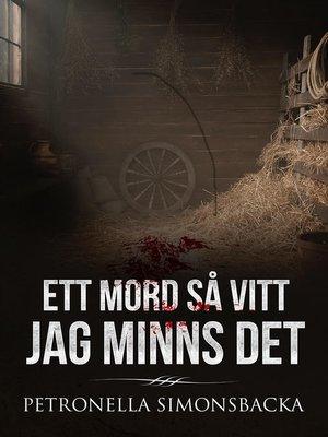 cover image of Ett mord så vitt jag minns det