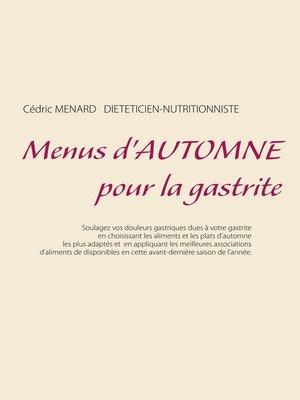 cover image of Menus d'automne pour la gastrite