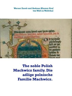 cover image of The noble Polish Machwicz family. Die adlige polnische Familie Machwicz.
