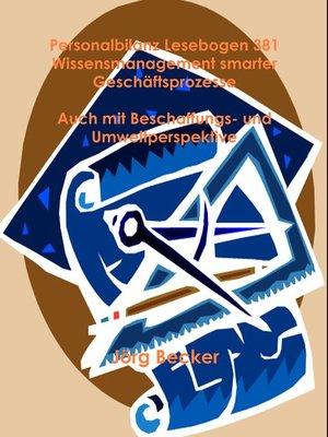 cover image of Personalbilanz Lesebogen 381 Wissensmanagement smarter Geschäftsprozesse