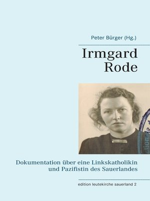cover image of Irmgard Rode (1911-1989)