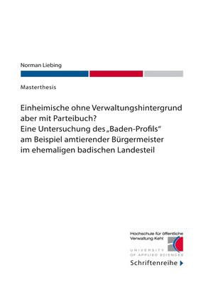 cover image of Einheimische ohne Verwaltungshintergrund aber mit Parteibuch?
