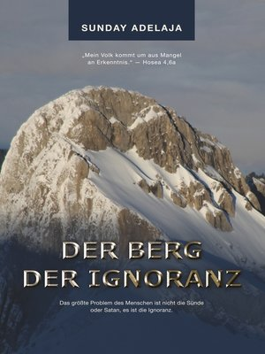 cover image of Der Berg der Ignoranz