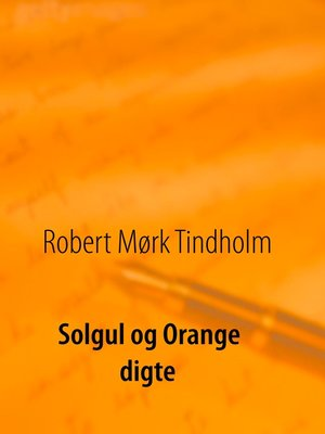 cover image of Solgul og orange