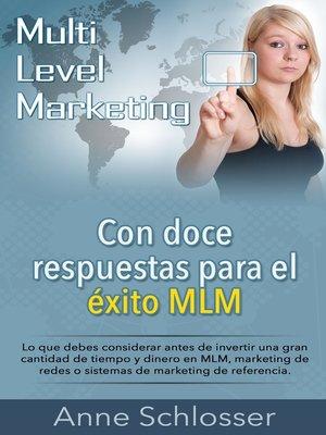 cover image of Con doce respuestas para el éxito MLM