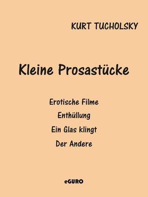 cover image of Kleine Prosastücke