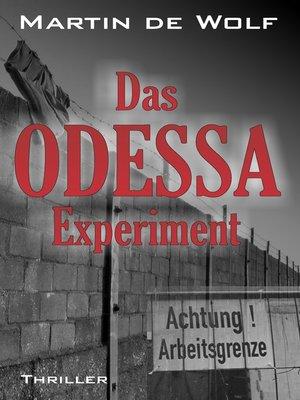 cover image of Das ODESSA-Experiment