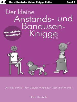 cover image of Der kleine Anstands- und Banausen-Knigge 2100
