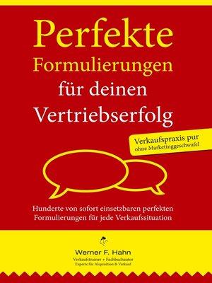 cover image of Perfekte Formulierungen für deinen Vertriebserfolg