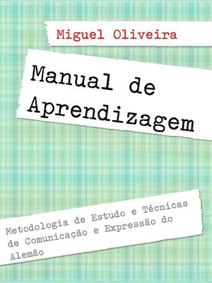 cover image of Manual de Aprendizagem