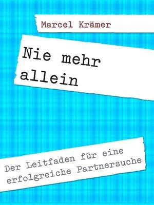 cover image of Nie mehr allein