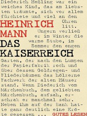 cover image of Das Kaiserreich--Trilogie (Der Untertan. Die Armen. Der Kopf)