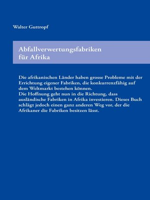 cover image of Abfallverwertungsfabriken für Afrika