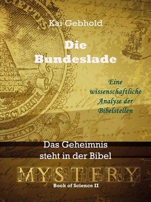 cover image of Die Bundeslade