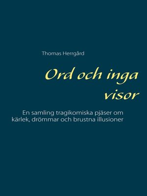 cover image of Ord och inga visor