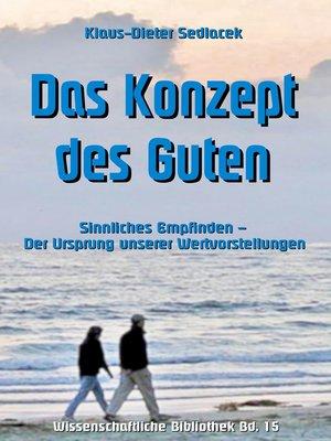 cover image of Das Konzept des Guten