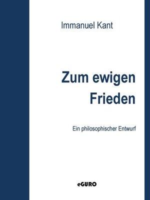 cover image of Zum ewigen Frieden