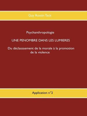 cover image of Une pénombre dans la philosophie des Lumières