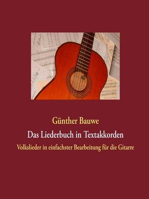 cover image of Das Liederbuch in Textakkorden