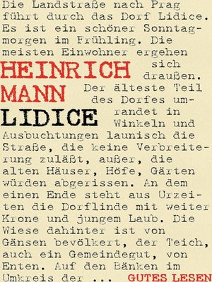 cover image of Lidice