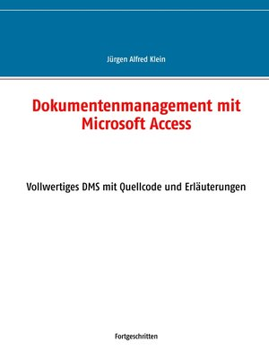 cover image of Dokumentenmanagement mit Microsoft Access