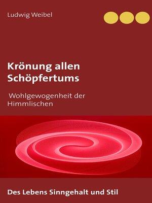 cover image of Krönung allen Schöpfertums