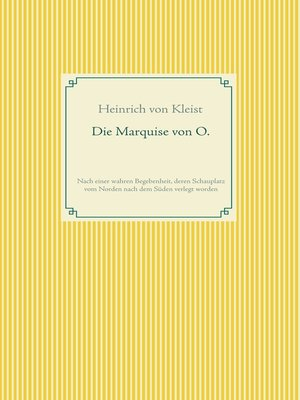 cover image of Die Marquise von O.