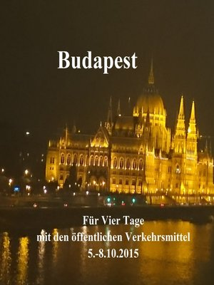 cover image of Budapest ohne Touristen-Bus