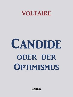 cover image of Candide oder der Optimismus
