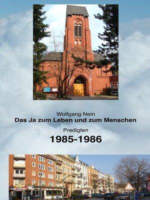 cover image of Das Ja zum Leben und zum Menschen, Band 11
