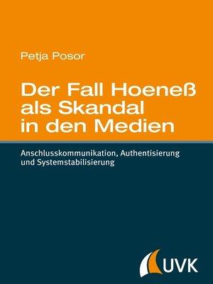 cover image of Der Fall Hoeneß als Skandal in den Medien